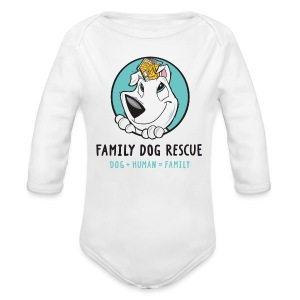 Family Dog Rescue (Mission on Back): Baby Long Sleeve One Piece - Long Sleeve Baby Bodysuit