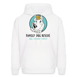 Family Dog Rescue (Mission on Back) Men's Hoodie - Men's Hoodie