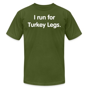 Turkey Leg (Men's Slim Cut) - Men's T-Shirt by American Apparel