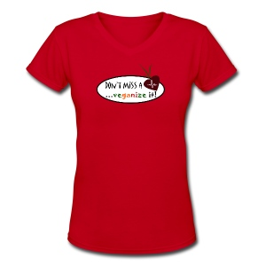 Don't Miss A Beet...Veganize it! - Women's V-Neck T-Shirt