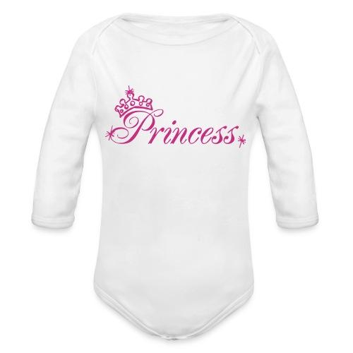 Princess   - Organic Long Sleeve Baby Bodysuit