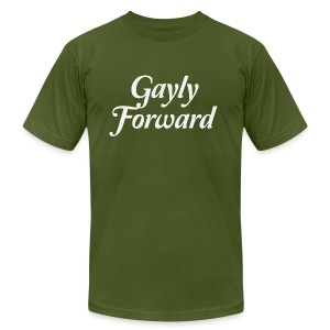 Gayly Forward - Men's T-Shirt by American Apparel
