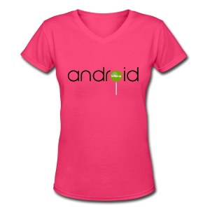 Android Lollipop/V-Neck - Women's V-Neck T-Shirt