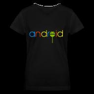 T-Shirts ~ Women's V-Neck T-Shirt ~ Android Lollipop/V-Neck