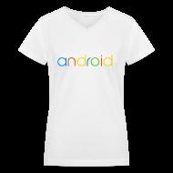 T-Shirts ~ Women's V-Neck T-Shirt ~ Android/V-Neck