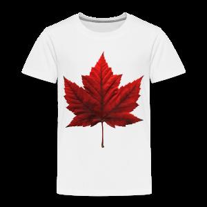 Canada Baby T-shirt Maple Leaf Canada Souvenir - Toddler Premium T-Shirt