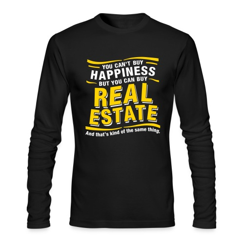 Can't Buy Happiness - Men's Long Sleeve T-Shirt by Next Level