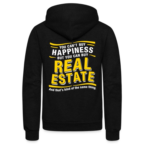 Can't Buy Happiness - Unisex Fleece Zip Hoodie