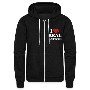 I Sell Real Estate - Unisex Fleece Zip Hoodie by American Apparel