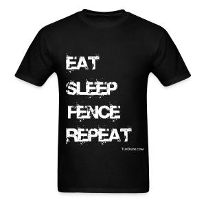 Eat Sleep Fence Repeat Men's T-shirt wb - TD-00018 - Men's T-Shirt