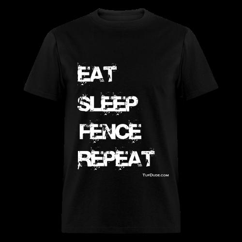 Eat Sleep Fence Repeat Men's T-shirt wb - TD-00018 - Men's T-Shirt