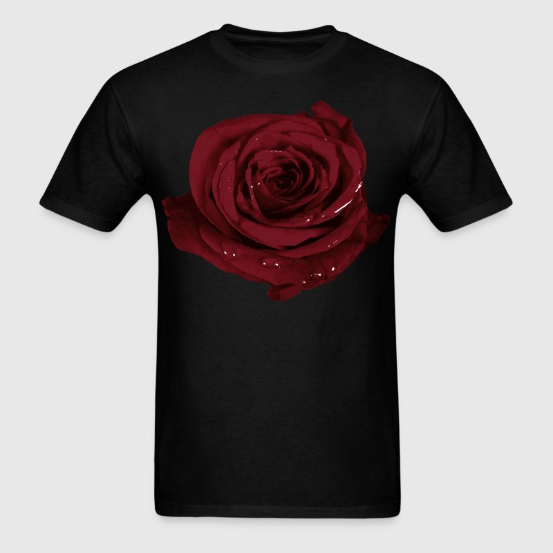 Realistic Rose Design T-Shirts - Men's T-Shirt