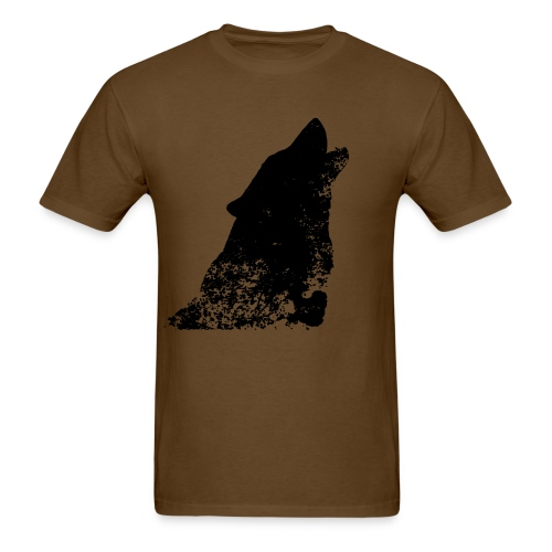 Distress Wolf Shirt - Men's T-Shirt