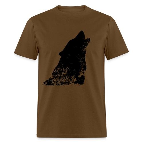 Distress Wolf Shirt - Men's T-Shirt