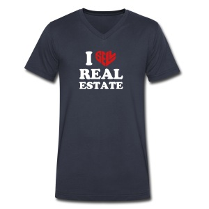 I Sell Real Estate - Men's V-Neck T-Shirt by Canvas