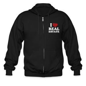 I Sell Real Estate - Men's Zip Hoodie