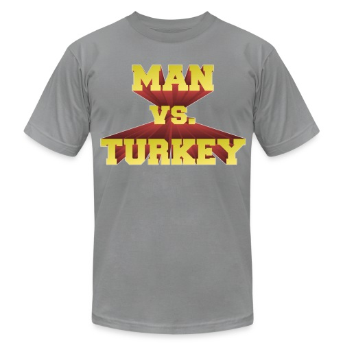 Man Vs. Turkey - Men's  Jersey T-Shirt
