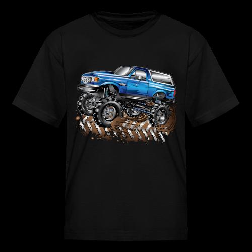 Blue Ford Bronco Mud Truck Shirt - Kids' T-Shirt