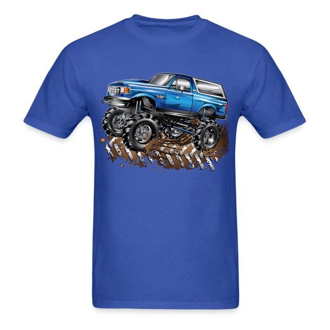 bf46fe926f2 Blue Ford Bronco Mud Truck Shirt