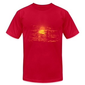 Mens Vintage Sunset T - Walnut - Men's Fine Jersey T-Shirt