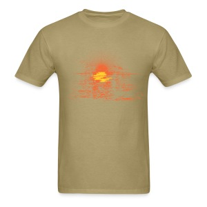 Mens Vintage Sunset  T - Almond - Men's T-Shirt