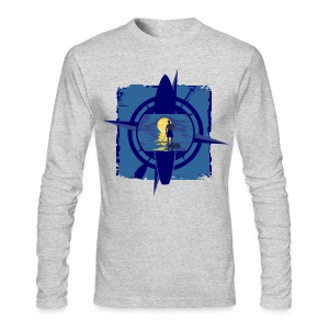 Mens Paddleboard T Long - Heather - Men's Long Sleeve T-Shirt by Next Level