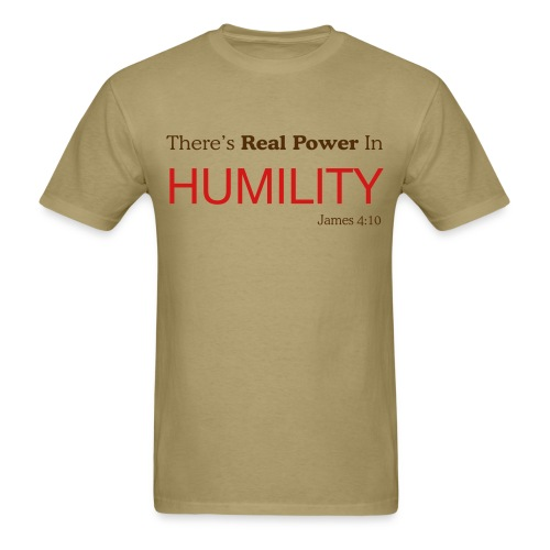 Real Power In Humility (Tan) - Men's T-Shirt