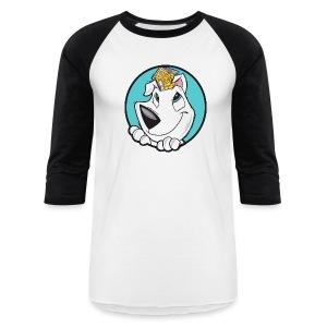 Family Dog Rescue Men's Baseball Tee (I Love Family Dog Rescue on back) - Baseball T-Shirt