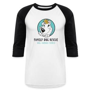 Family Dog Rescue Men's Baseball Tee (Mission on back) - Baseball T-Shirt