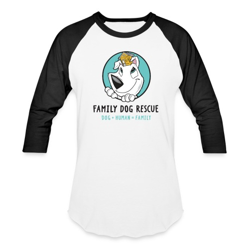 Family Dog Rescue Men's Baseball Tee (Mission on back) - Baseball T-Shirt