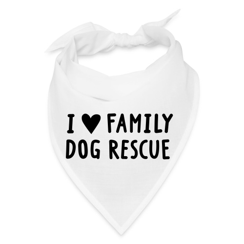 I Heart Family Dog Rescue: Bandana - Bandana