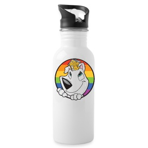 Family Dog Rescue Pride (I Heart Family Dog Rescue on Back): Water Bottle - Water Bottle