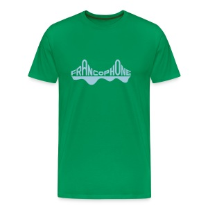 Men's premium_kelly green/sky blue - Men's Premium T-Shirt