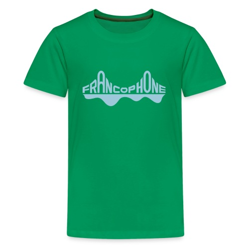 Kid's premium_kelly green/sky blue - Kids' Premium T-Shirt