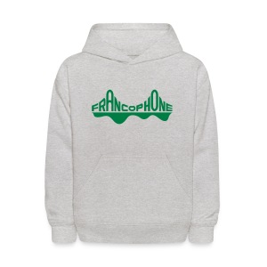 Kid's sweatshirt_gray/forest green - Kids' Hoodie