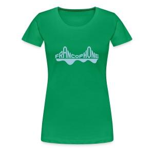 Women's premium_kelly green/sky blue - Women's Premium T-Shirt