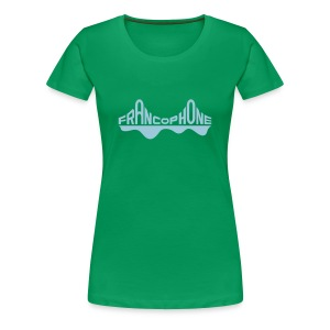Women's premium_kelly green/sky blue - Women's Premium T-Shirt