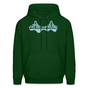 Men's sweatshirt_forest green/powder blue - Men's Hoodie