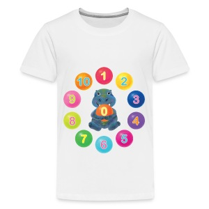 Numbers Hippo - Kids' Premium T-Shirt