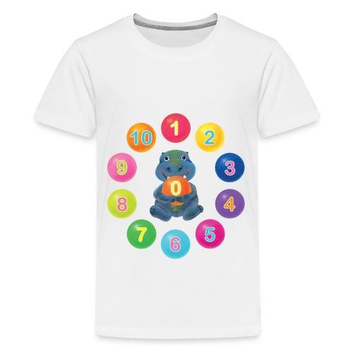 Numbers Hippo - Kids' Premium T-Shirt