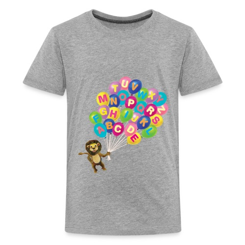 Alphabet Balloon Lion - Kids' Premium T-Shirt