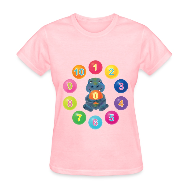 Number Hippo for women - Women's T-Shirt