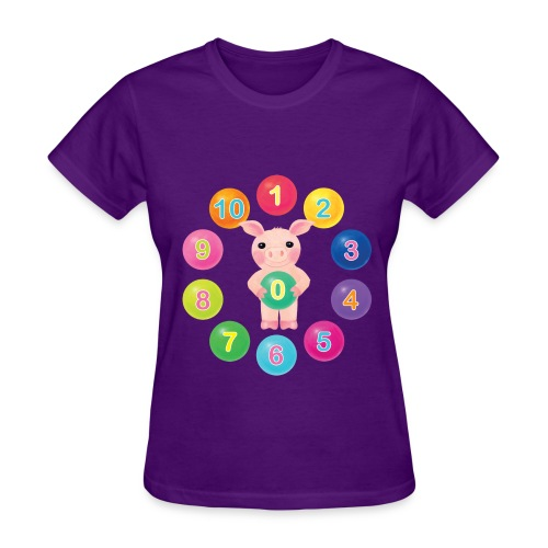 Numbers Pig for women - Women's T-Shirt