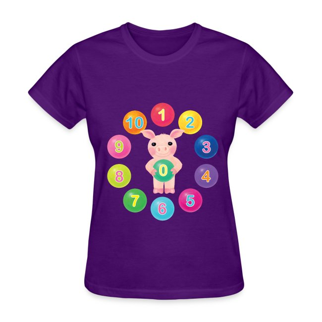Numbers Pig for women
