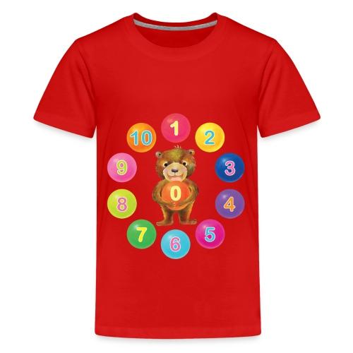 Numbers Bear - Kids' Premium T-Shirt