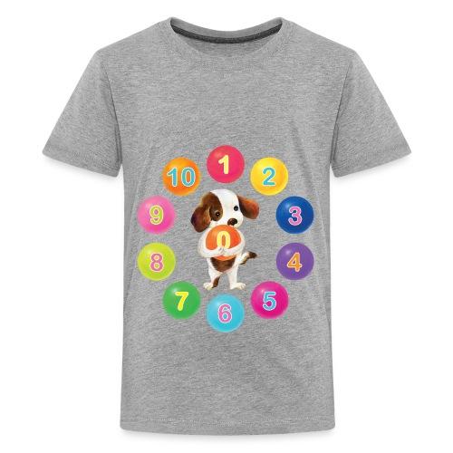 Numbers Dog - Kids' Premium T-Shirt