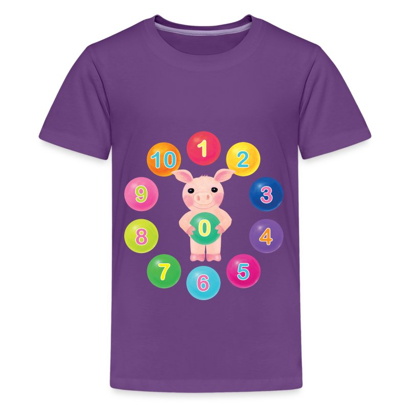 Numbers Pig - Kids' Premium T-Shirt