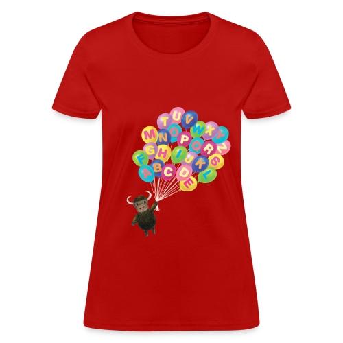 Alphabet Balloon Yak for women - Women's T-Shirt