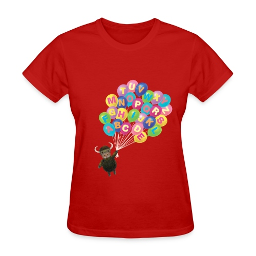 Alphabet Balloon Yak for women - Women's T-Shirt