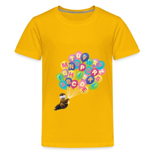 Alphabet Balloon Walrus - Kids' Premium T-Shirt